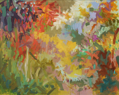 Yellow Springs Pink. oil on canvas. 48 x 60