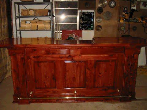 Bar I built from cedar.