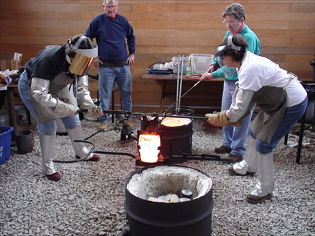 Bronze casting class taught by Master Craftsmen Ken and Mary Davidson