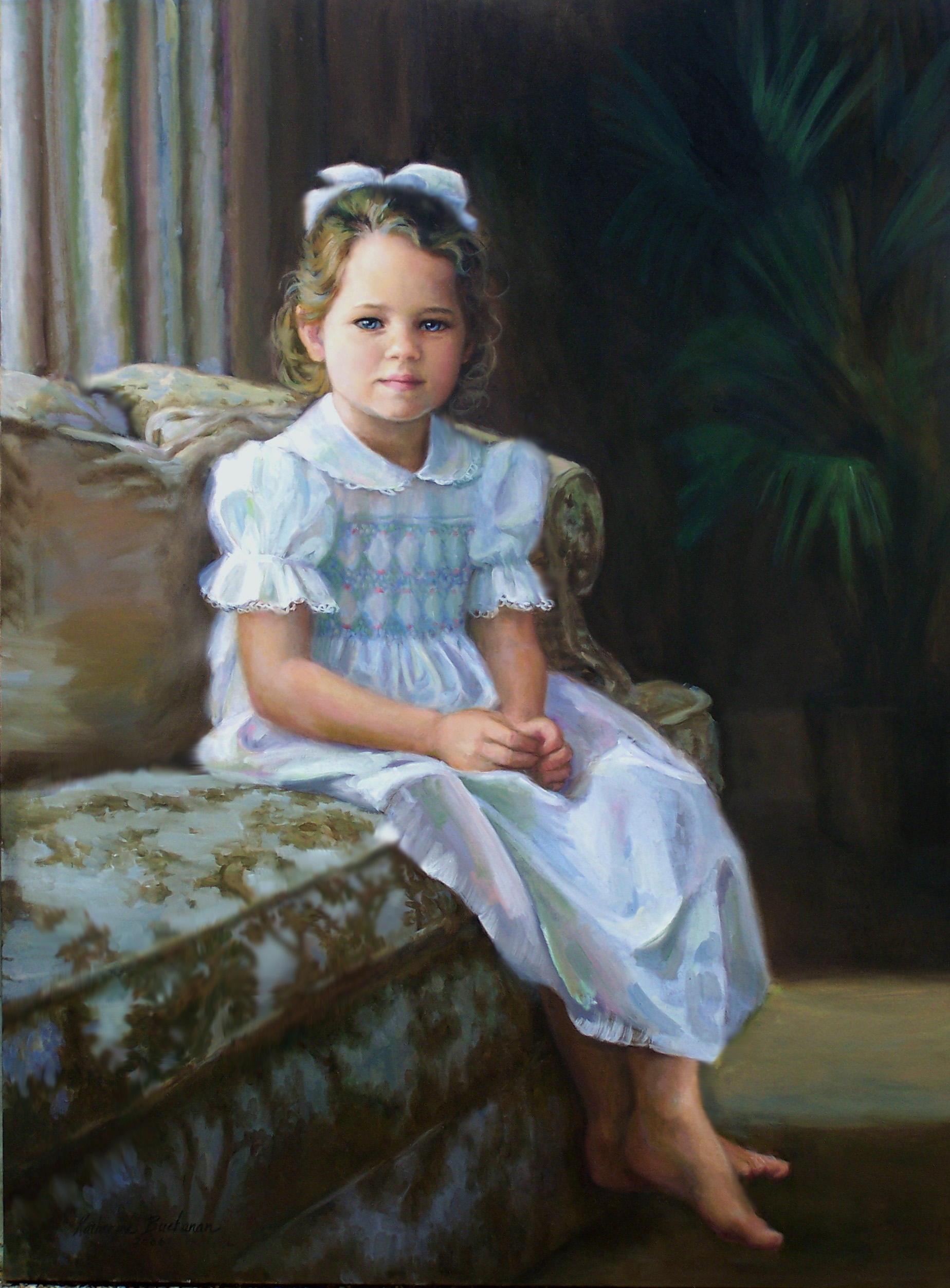 """""""Anna"""", 24"""" x 30"""", oil on linen, private collection"""
