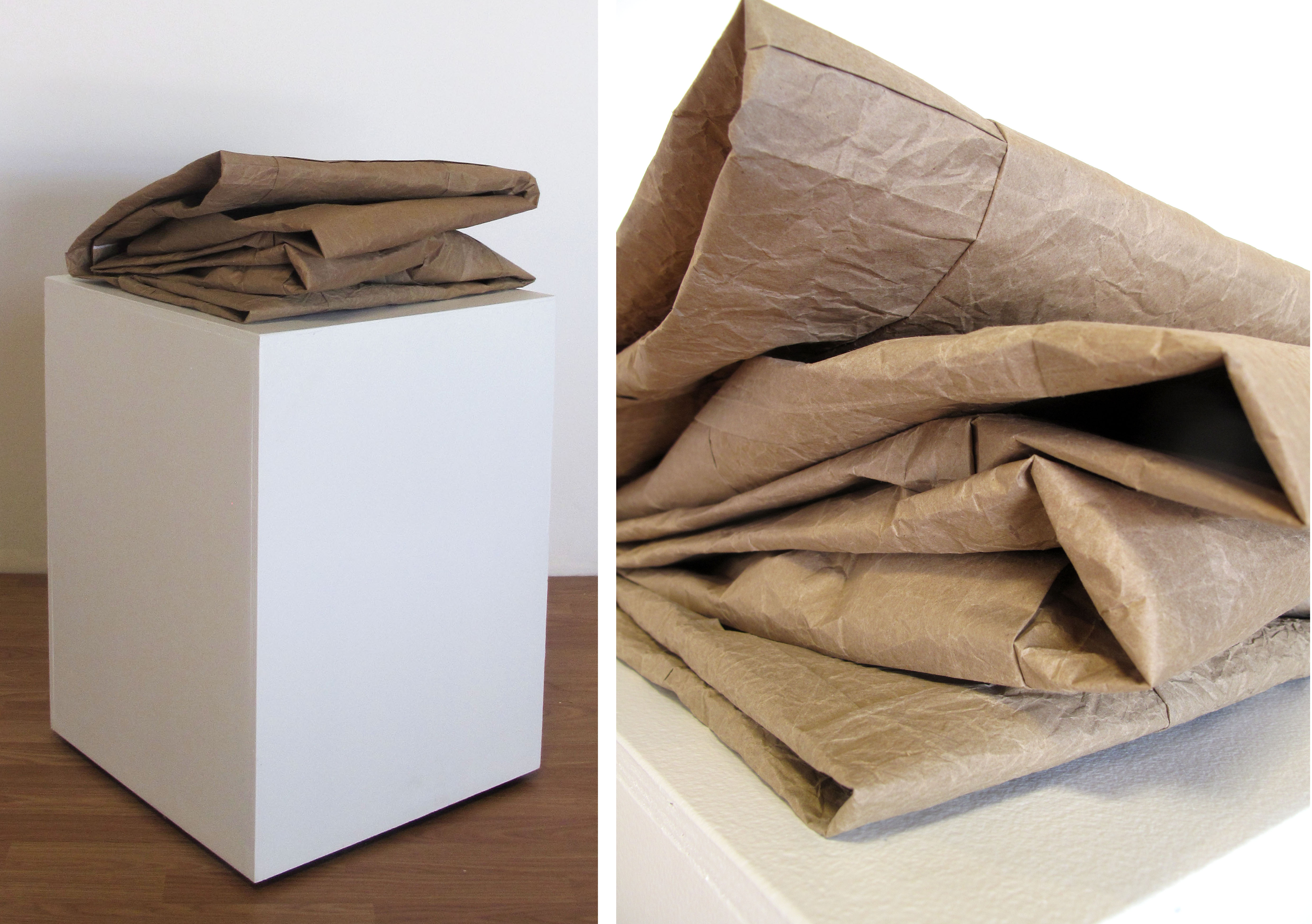 Quilt Top, 2014 (Brown paper bags)