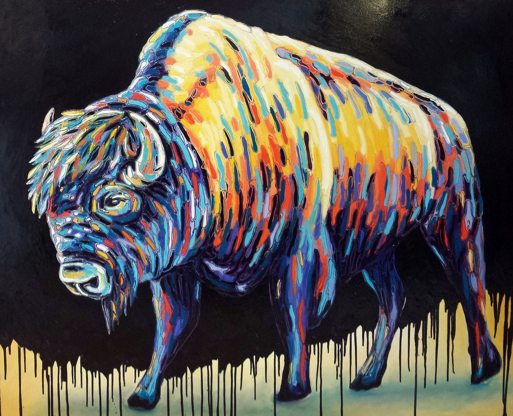 Buffalo - Oil on Canvas - 60x48