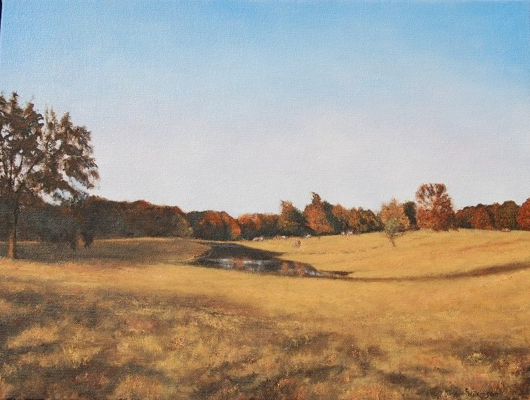 Autumn Shadows, 12 x 16, oil, Collection of Lee Isaac Chung