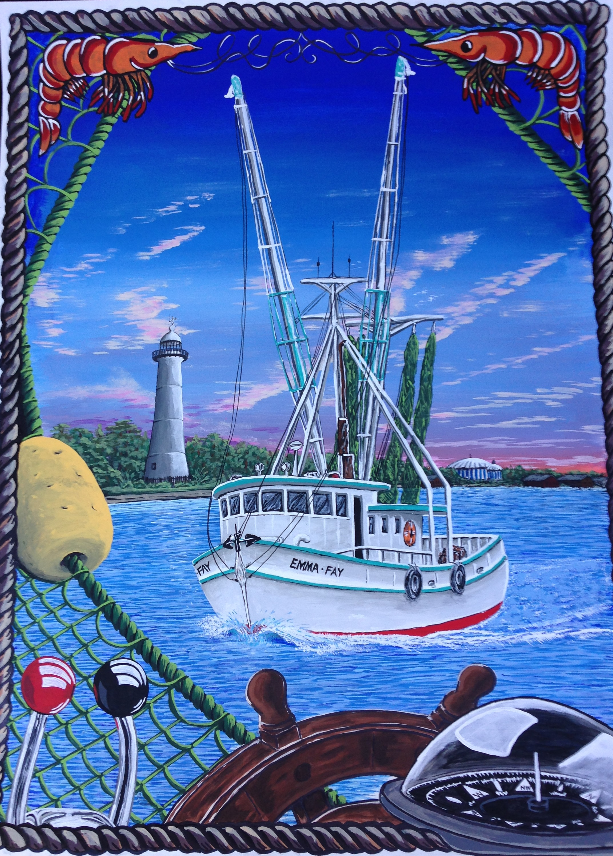 Coastal Tradition - 18 x 24 Acrylic ( 2017 Biloxi Blessing of the Fleet poster winner)