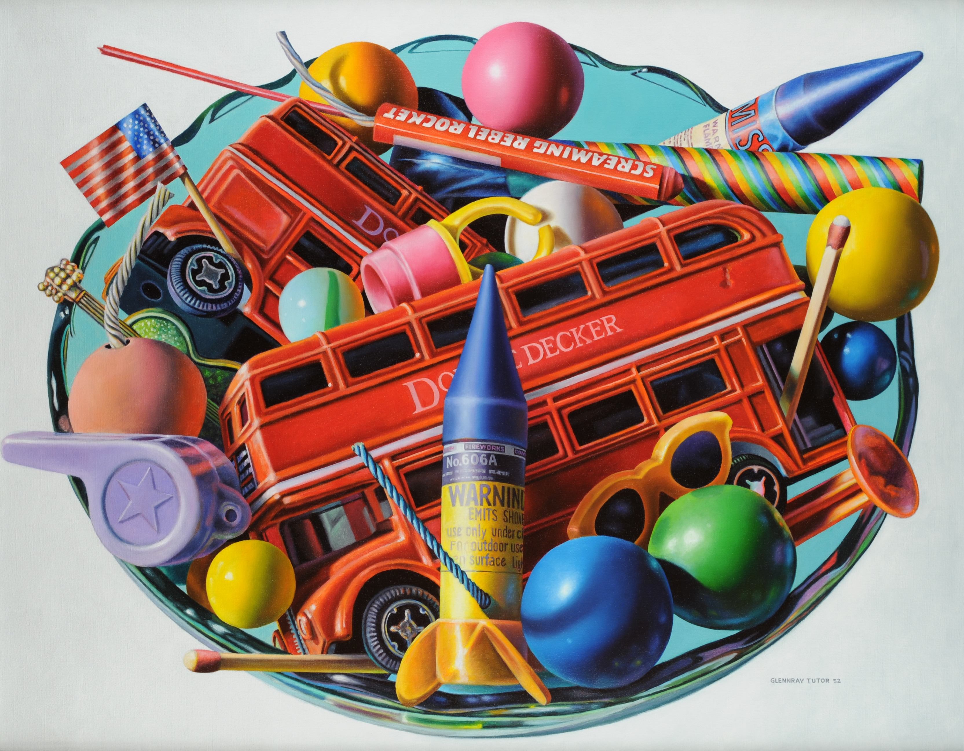 DOUBLE DECKER, Oil on Linen Canvas, 29 x 36 inches, 2003, Collection: Jay and Stacey Underwood, Oxford, MS