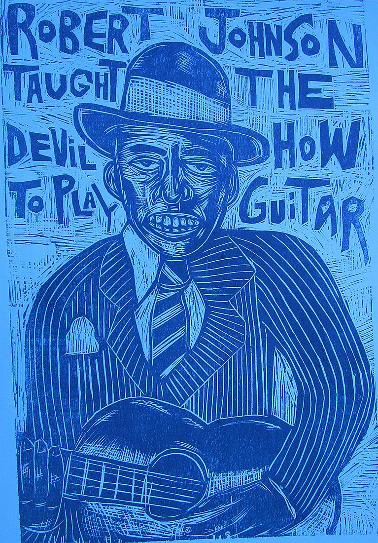 Robert Johnson woodcut 2012