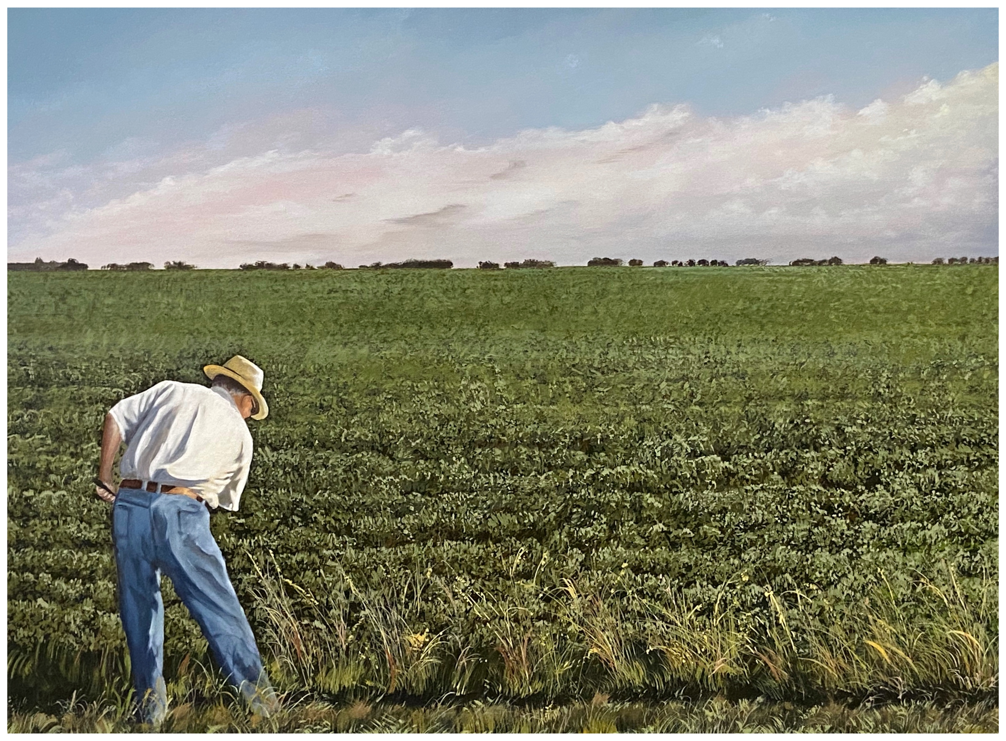Father in the Field, Oil on Canvas, June 2020