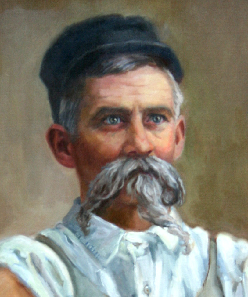""""""" George Ohr"""", detail of larger painting, collection of Old Capitol Museum, Jackson, MS"""