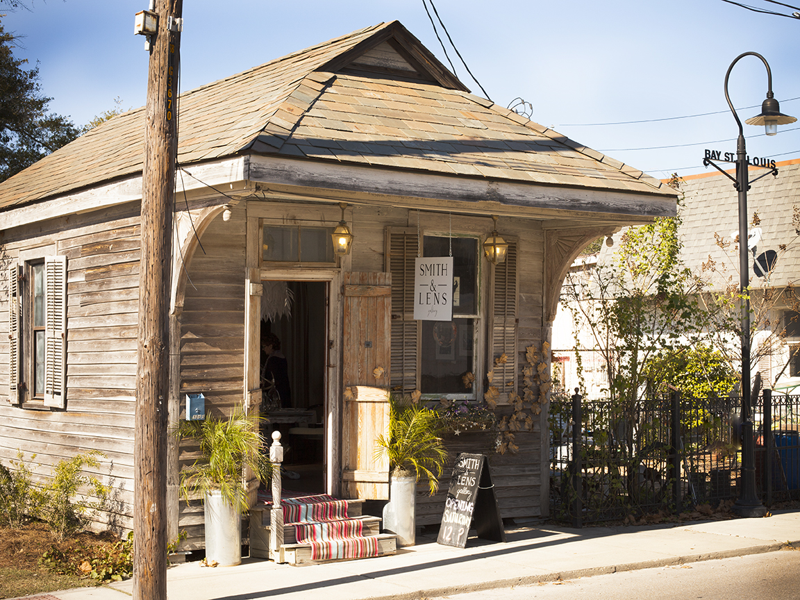 Our awesome little building and the patio we share with Magnolia Antiques.