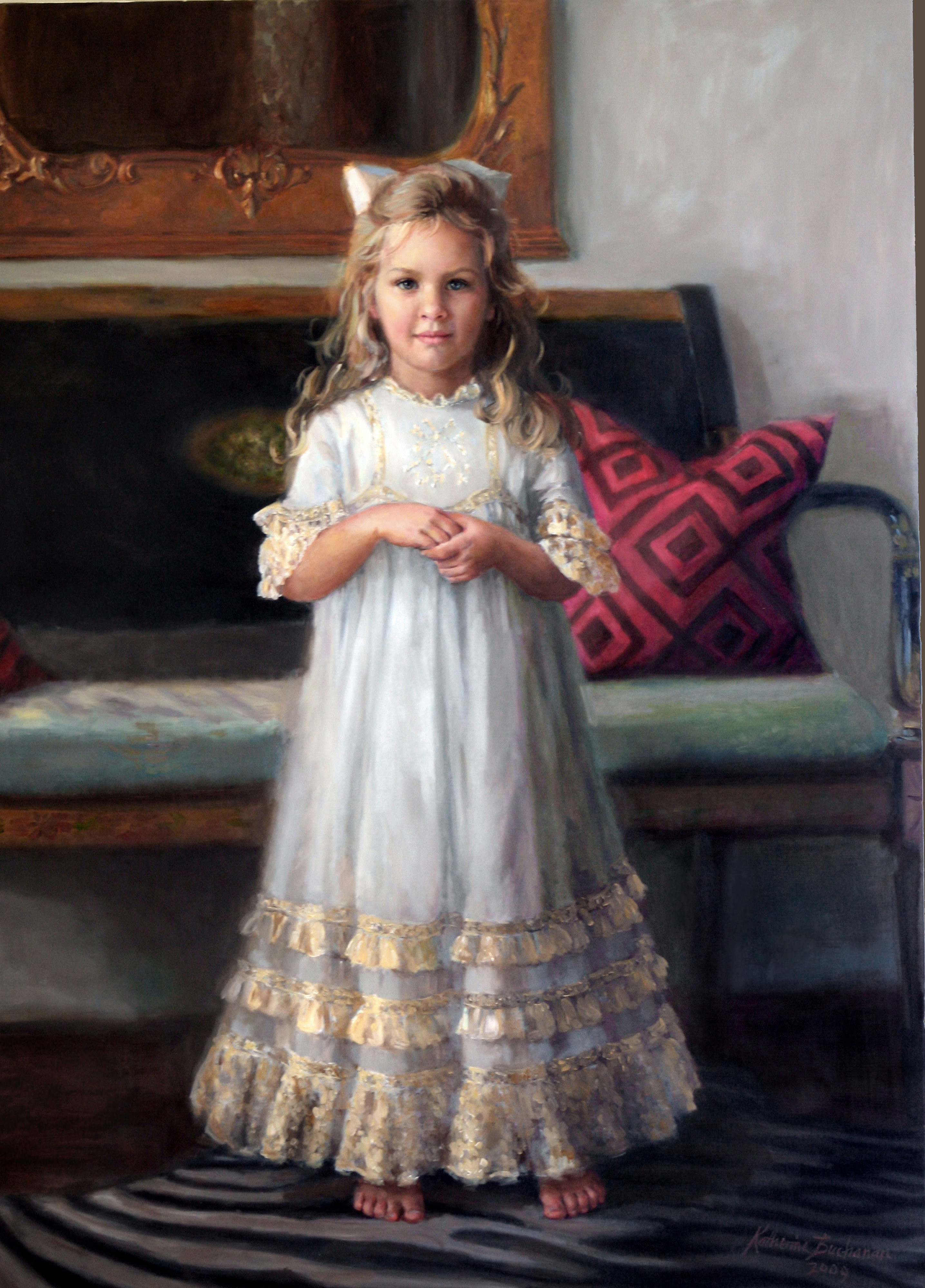 """""""Isabel"""", 24"""" x 36"""", oil on linen, private collection"""