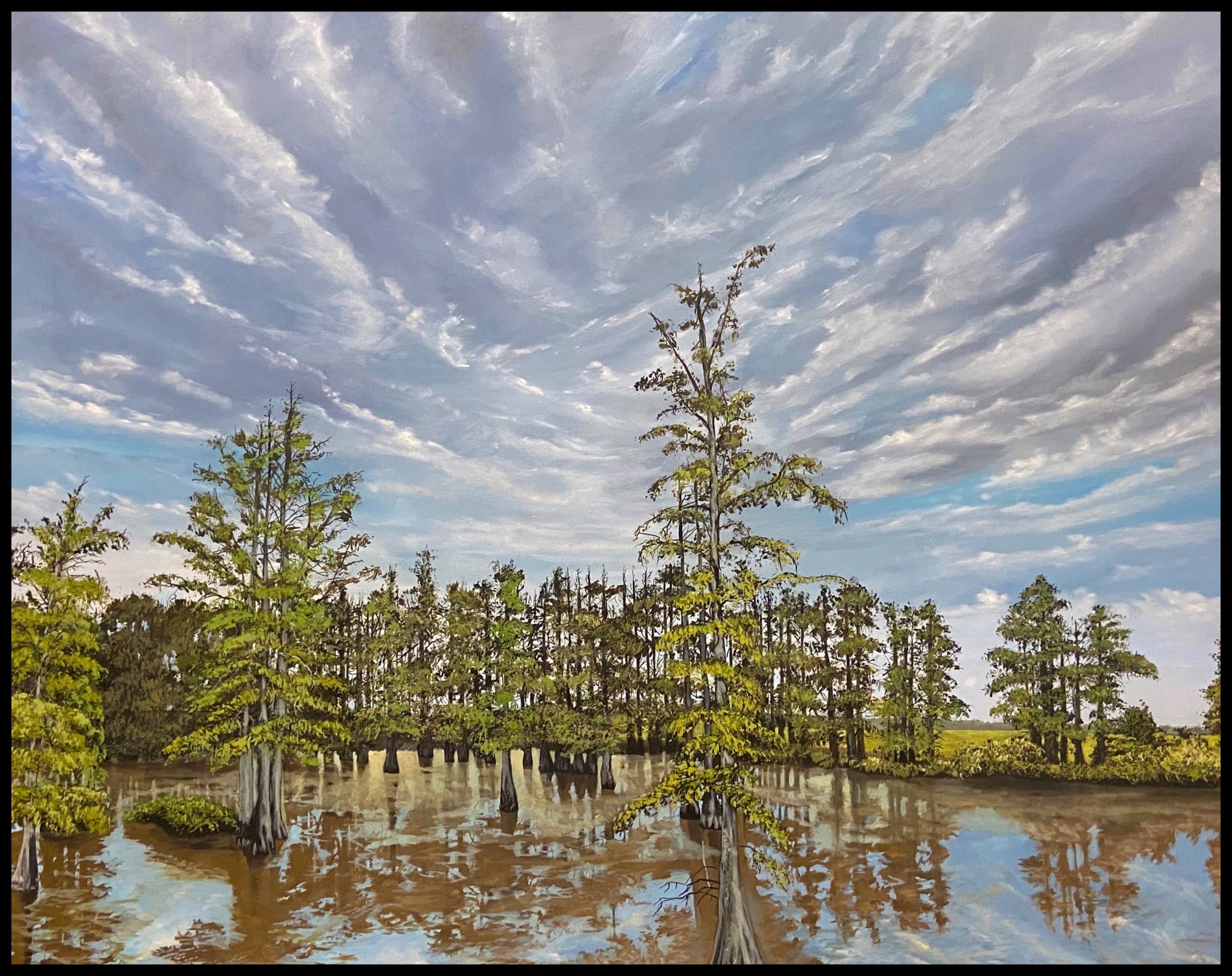On the Bayou, Oil Painting on Canvas, July 2020