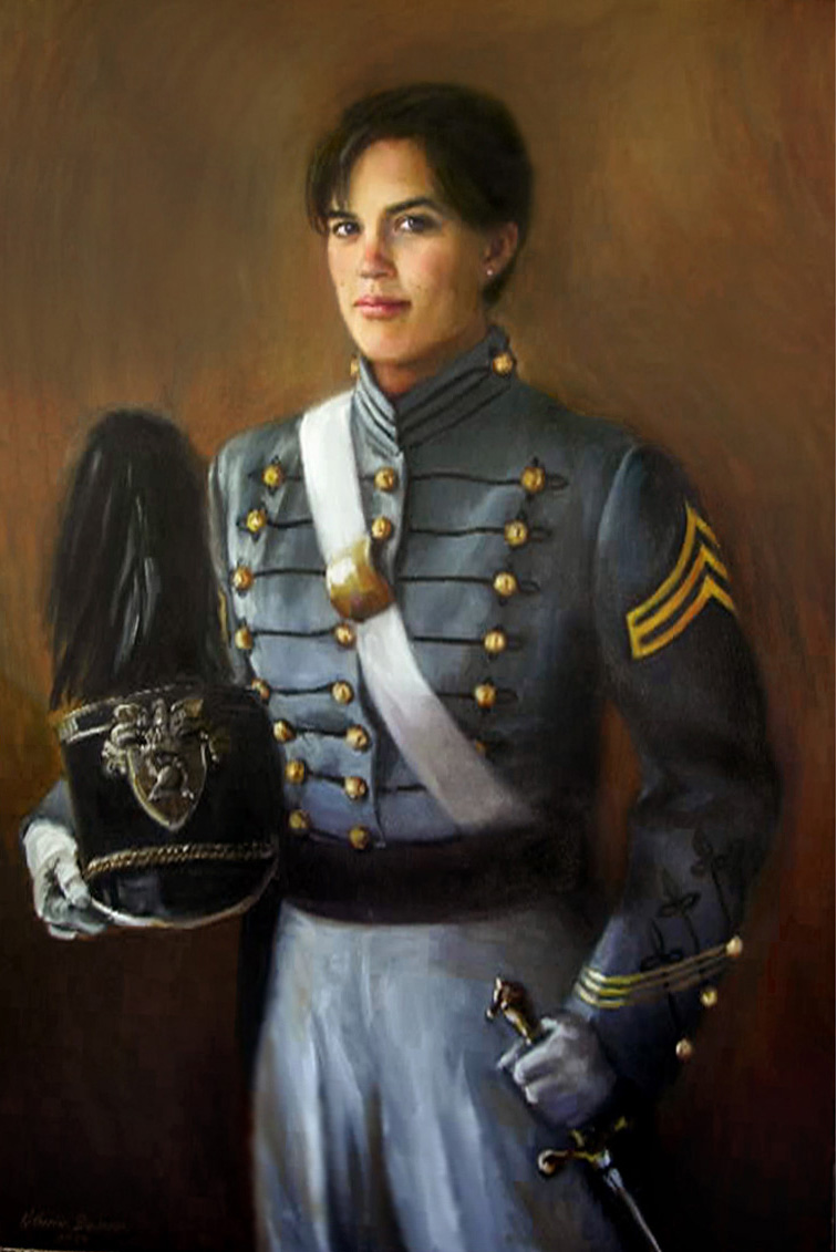 """""""Cadet Jennifer Brewer"""", 36"""" x 48"""", oil on linen, private collection"""