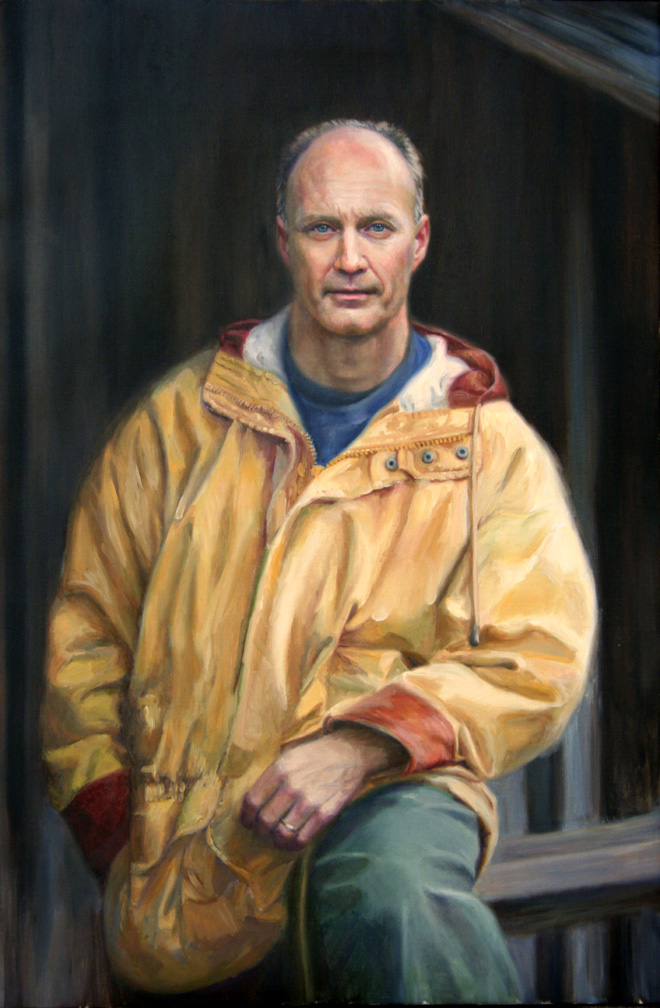 """""""Keith"""", 24"""" x 36"""", oil on linen, collection of the artist"""