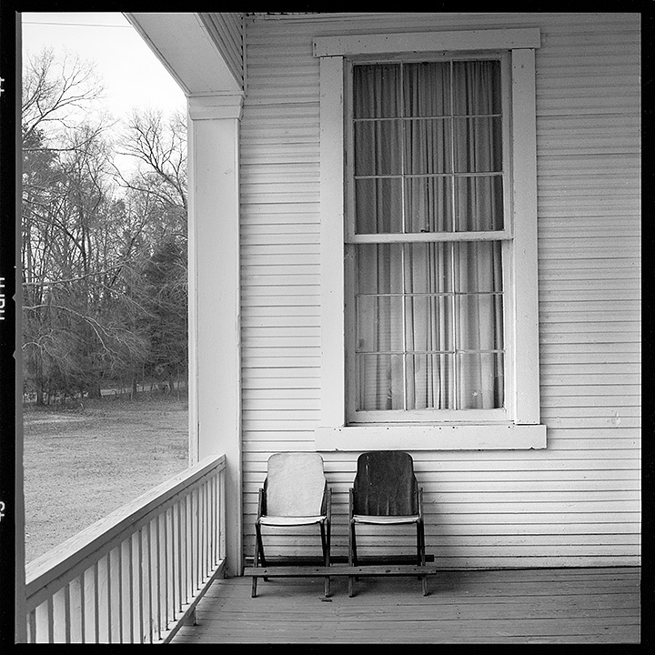 Two old school chairs, Black Hawk, Mississippi