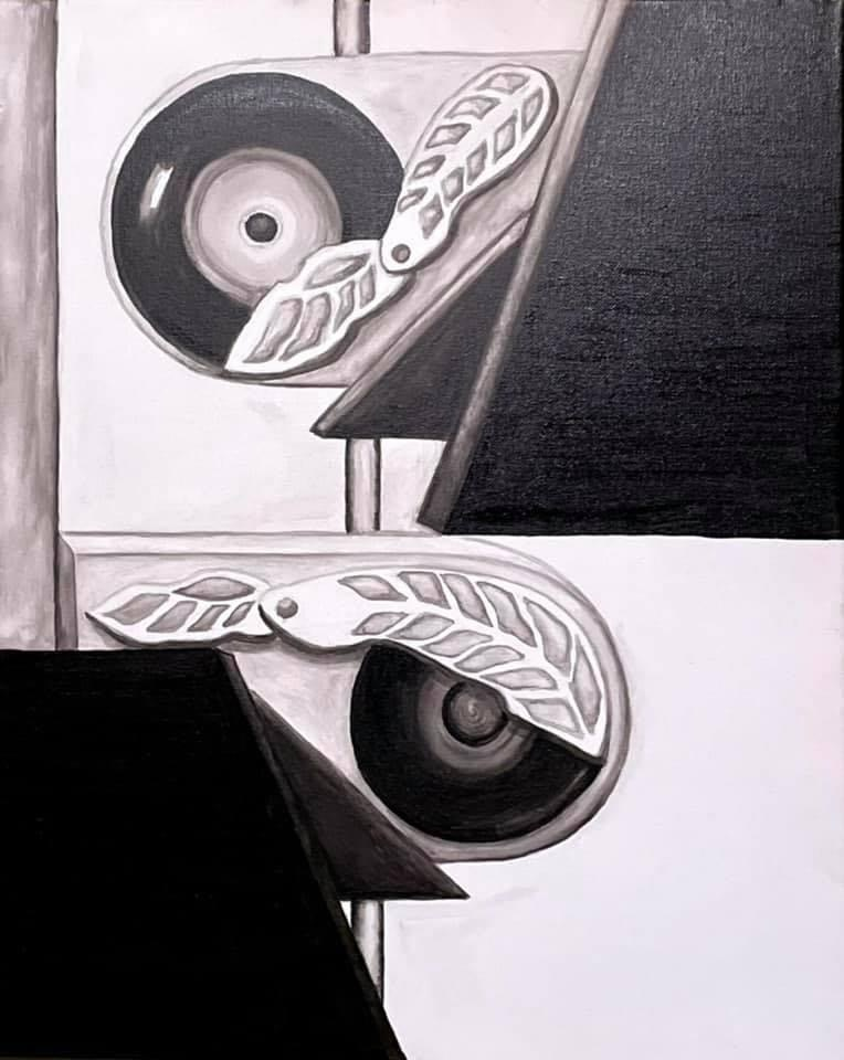 Revolution depicts the feeling of the musical experience you find only in vinyl records.