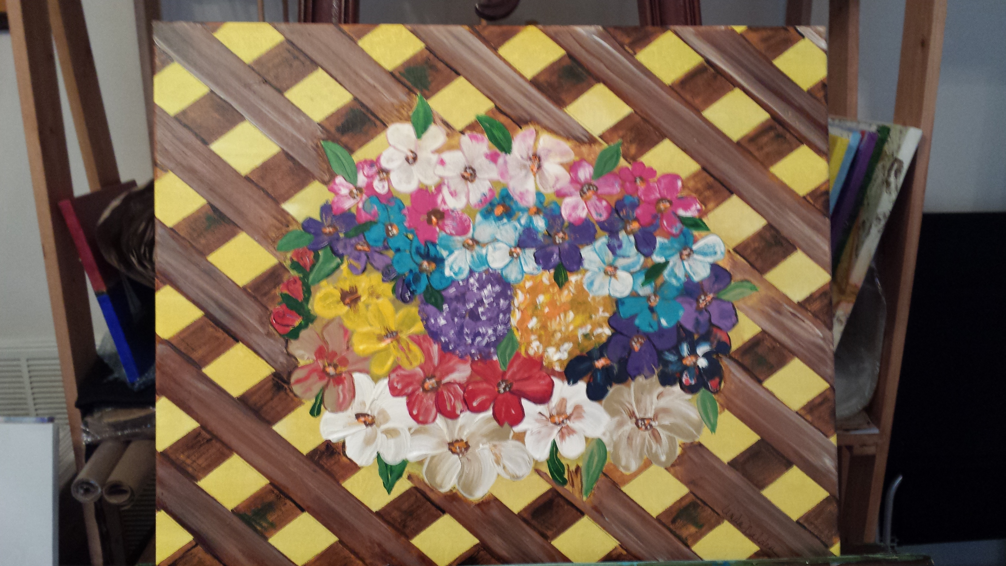 Spring Bouquet.  Acrylic on Canvas.