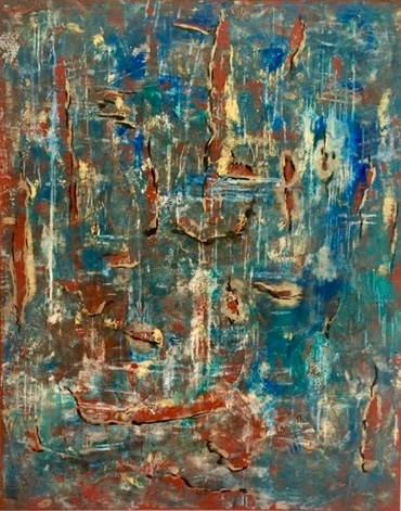 untitled, 48x60 acrylic and oil on stretched canvas