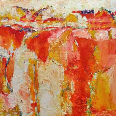 Sunrise Abstract     48 inches by 48 inches    oils on canvas