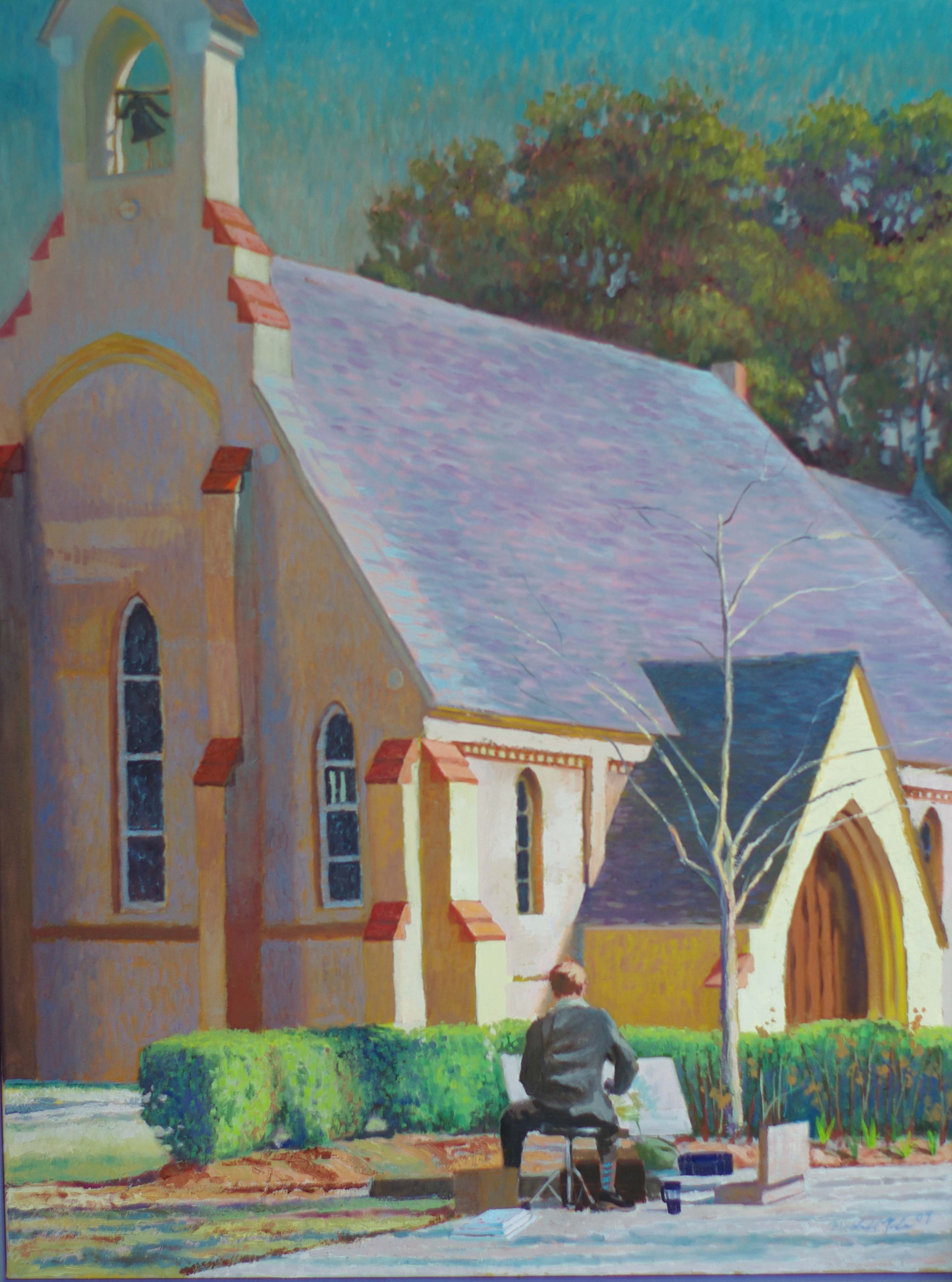 Jonathan at Chapel of the Cross, Oil on Canvas, 3'x4'