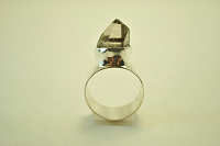 Handmade quartz and sterling silver ring