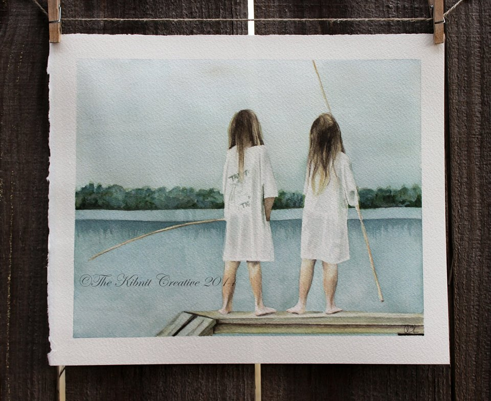 Two Girls Fishing, private collection- Olive Branch, MS, June 2014, 8
