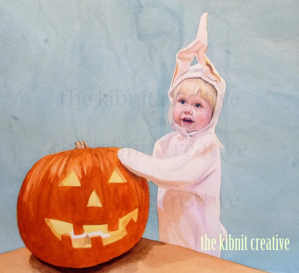 Bunny with Her Pumpkin, private collection- Chicago, IL, Nov 2013, 22