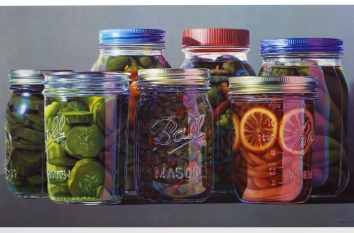 STILL LIFE: A SEASON OF MOMENT,  Oil on Linen Canvas, 50 x 84 inches, 2003, Collection: Ms Museum of Art, Jackson, MS